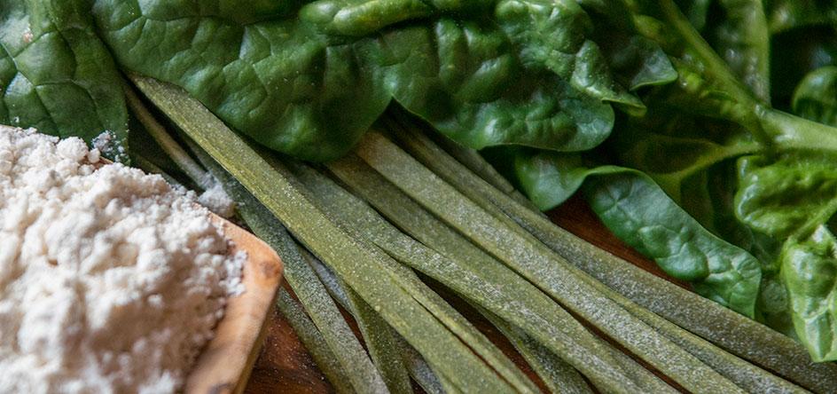 Genießen Sie die köstlichen Nudel-Kreationen aus eigener Herstellung.
